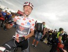 Wearing my hard-won prize, the polka-dot jersey for best climber. (Photo by James Startt)