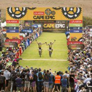 Karl Platt and Urs Huber overall winners of the 2016 Absa Cape Epic Mountain Bike stage race from Boschendal in Stellenbosch to Meerendal Wine Estate in Durbanville, South Africa on the 20th March 2016  Photo by Sam Clark/Cape Epic/SPORTZPICS