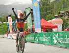 Ariane rides away with the Swiss XCM Championship jersey!