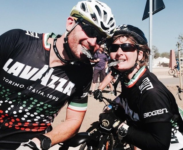 Justin Jefferey and Romy (traumatic brain injured lady) rode the 2013 94.7 Cycle Challenge on a tandem