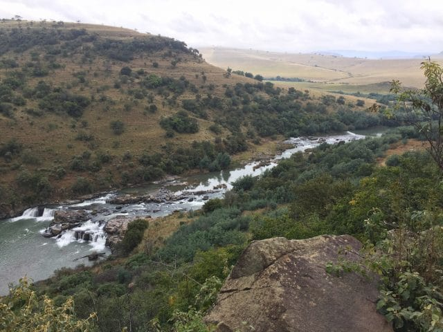 The climb towards the Zulu Waters Nature Reserve is a tough one, but the views make it all worthwhile.