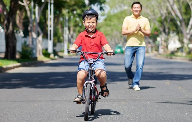 how to teach an older kid to ride a bike