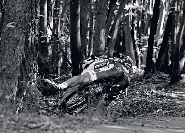 bike crashing