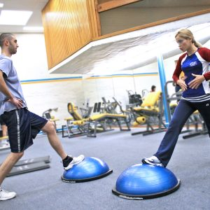 Bosu - get a couple of reps in for strength and fitness.